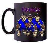 Tasse de sport pour caricature de France Rugby Gorrilla France, Cockeral Klassek, café, thé, 283,5 g, cadeau en satin noir