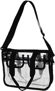 IPOTCH Damen Transparente Umhängetasche, Durchsichtig Handtasche Eva Schultertasche Tasche Abendtasche