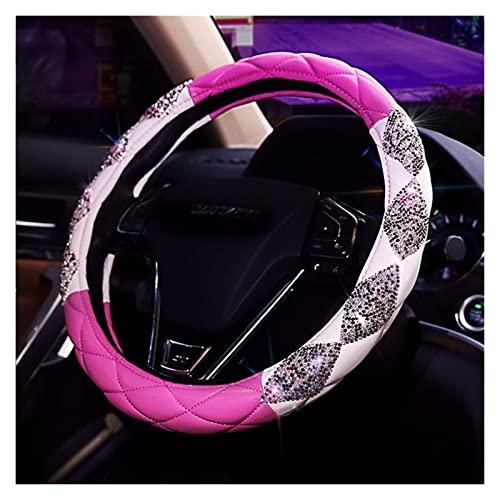 Chengcheng AIYISITELU Nuevo Universal 38 CM Bling Copo DE CUCHO Cubiertas DE CUERA DE Cuero DE Cuero DE Cara DE Diamante DE DIAMANCE Accesorios for Mujer XUANMAIQUQI (Color Name : Pink)