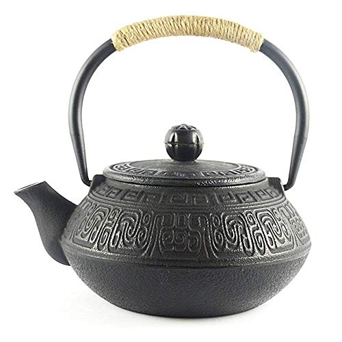 HwaGui - Best Japanese Style Cast Iron Teapot with Infuser For Loose Tea, Stovetop Safe Japanese Tea Kettle 650ml/23oz