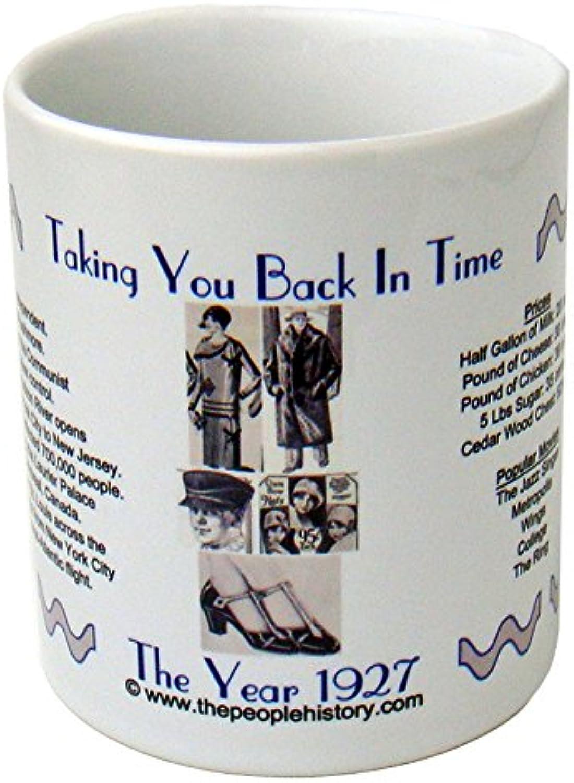 1927 Mug à café avec -1927 année au cours de l'histoire