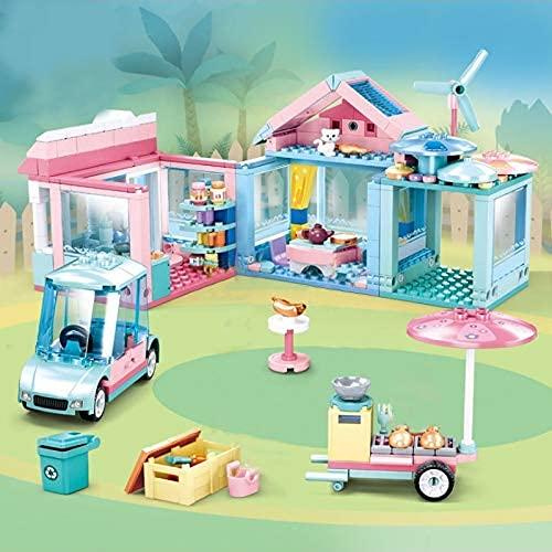 Bloques de construcción 410PCS Casa Rural Jardín Villa Building Blocks Girls Friends Casual Party House DIY Arquitectura Inteligencia Juguetes para niños