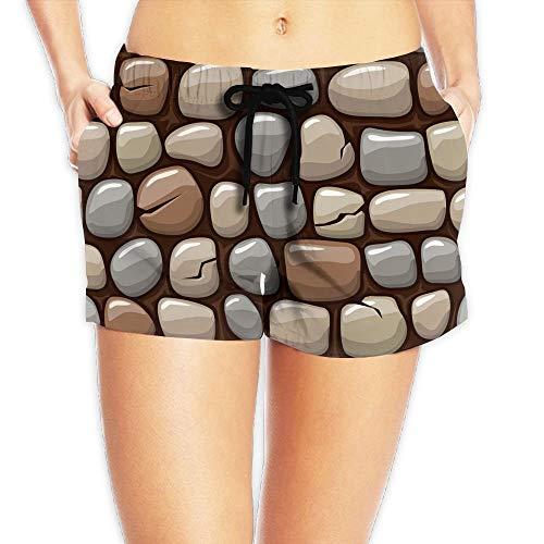 Gekleurde Old Stone Surfing Pocket Elastische tailleband voor dames, strandbroek, zwembroek
