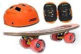"Jaspo Horizon Eco Junior Skateboard Combo (18 * 5"") (Skateboard+Hemet+Elbow)"