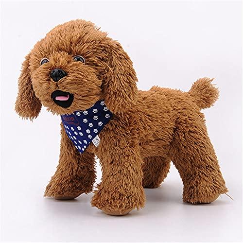 Bonito Collar de Tela para Perro, Huellas Simples, Boca de Perro, Toalla de Agua para Perros pequeños y medianos, Suministros para Mascotas, Accesorios, Azul, M