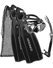 Cressi Pro Light + Big Eyes + Alpha Utra Dry Snorkel Set, Unisex Adulto