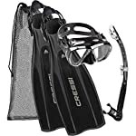 Cressi Unisex Pro Light Kit Pro Light Scuba Diving  Heel Fins + Big Eyes  Scuba Diving Mask and Alpha Ultra Dry Snorkel