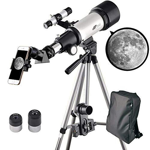WUAZ Telescopio para niños y principiantes-70mm Apeture Viaje Alcance