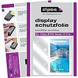 dipos I 2X Schutzfolie klar kompatibel mit Odys IEOS Quad 10 Pro Folie Bildschirmschutzfolie