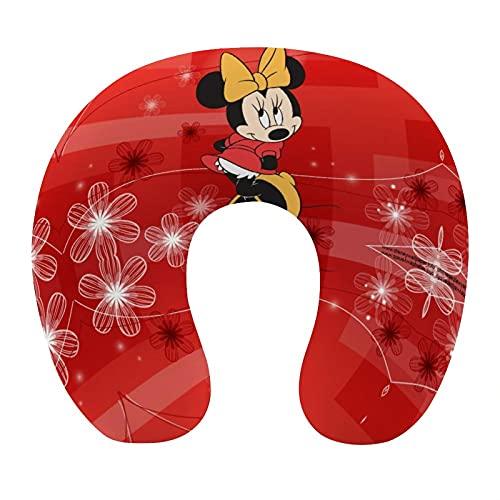 Almohada cervical en forma de U de Mickey Mouse Minnie de viaje, respaldo de avión, siesta de cuello para coche, regalo de mamá y papá