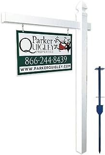 Vinyl PVC Real Estate Sign Post - White - 6' Tall Post White 47