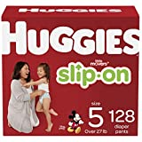 Huggies Little Movers Slip On Diaper Pants, Size 5, 128 Count, One Month Supply