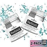 (2 Pack) New Age Retinol Cream Moisturizer Serum with Hyaluronic Acid, Vitamin E...