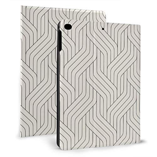 Funda Protectora para iPad Línea geométrica Rayas Color Liso Funda Linda para iPad para iPad Mini 4 / Mini 5/2018 6th / 2017 5th / Air/Air 2 con Auto Wake/Sleep Magnetic iPad Mini Cover