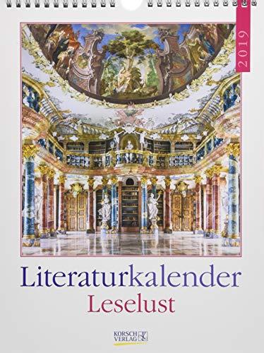 Leselust Literaturkalender 247419 2019: Literarischer Wochenkalender * 1 Woche 1 Seite * literarische Zitate und Bilder * 24 x 32 cm