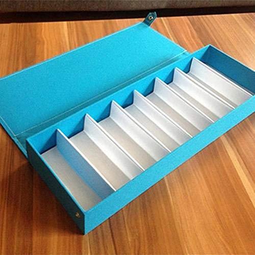 Caja de almacenamiento para gafas de sol de 8 rejillas, caja de cristal para anteojos de alta capacidad, caja de almacenamiento de viaje para herramientas ordenadas, Estados Unidos, gris