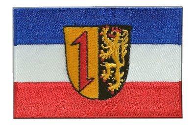 Aufnäher Patch Flagge Deutschland Stadt Mannheim - 8 x 6 cm