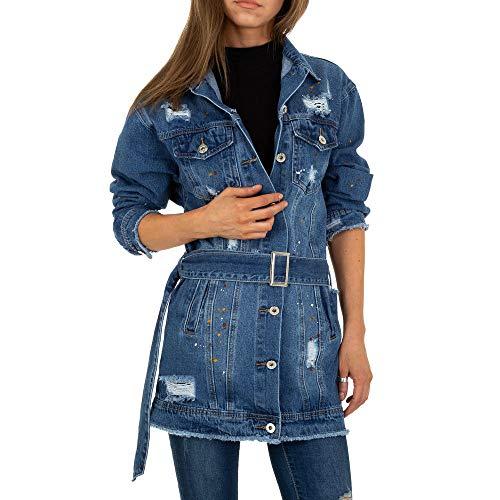 Ital Design Damen Lange Jeans Jacke M.Sara Gr. S Blau