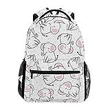 DXG1 - Mochila de elefante, color blanco, para mujer, hombre, adolescente, niña, colegio, bolso de mano, bolsa de viaje, gran capacidad, 40,5 x 29 x 20 cm