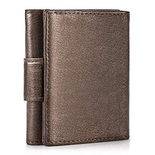 Ventvinal Herren Geldbörse RFID Schutz Geldbeutel Mini Portemonnaie aus Leder