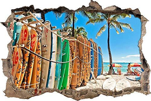 Tatuaje pared 3D Selfadhesive fácil de aplicar y Peel para - jovenes Decoración infantil de pared - muchas tablas de surf diferentes 70x110cm
