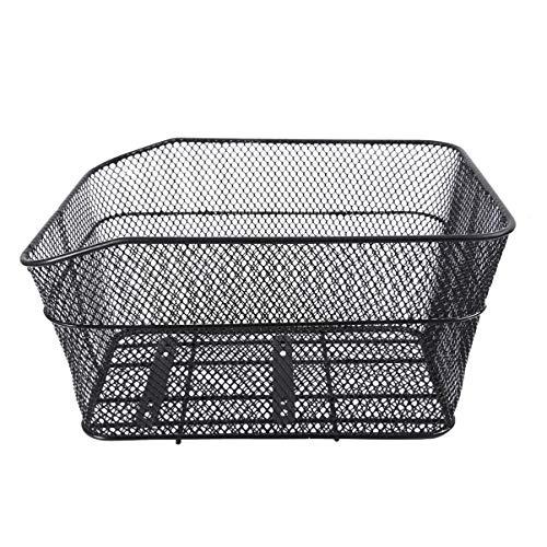 BESPORTBLE Rear Bike Basket Iron Wire Bicycle Basket Mountain Bike Rear Seat Storage Basket Heavy Duty Cargo Net Basket for Riding