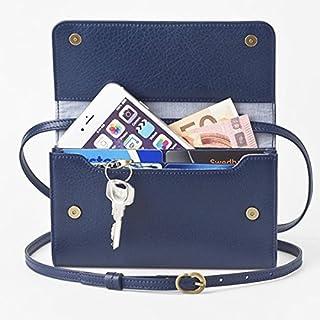 お財布にもなる「ショルダーミニバッグ プラス マリンブルー」iPhone 6Plus/7Plusなど大きいスマホも入る / スイス発カーフレザー製 ファッション バッグ ショルダーバッグ その他のショルダーバッグ 14067381 [並行輸入品]