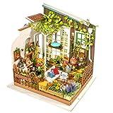Robotime ドールハウス 3Dパズル ミニチュア DIY LED付き 子供 おもちゃ-ガーデン オモチャ 知育玩具 男の子 女の子 大人 入園祝い 新年 ギフト 誕生日 クリスマス プレゼント 贈り物
