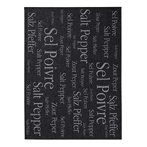 Winkler - Torchon métis Sel & Poivre – 50x70 cm – Tissu en lin et coton, absorbant - Serviette à vaisselle, chiffon de nettoyage, lingette de séchage