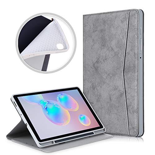 Custodia protettiva per Samsung Galaxy Tab S6 Lite da 10,4 pollici 2020 SM-P610   P615 TPU tablet cover case con portapenne (Grigio)