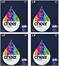 Concentrated Cheer Ultra Fresh Clean Scent Powder Laundry Detergent, 80 Loads, 112 oz (Pack of 4)