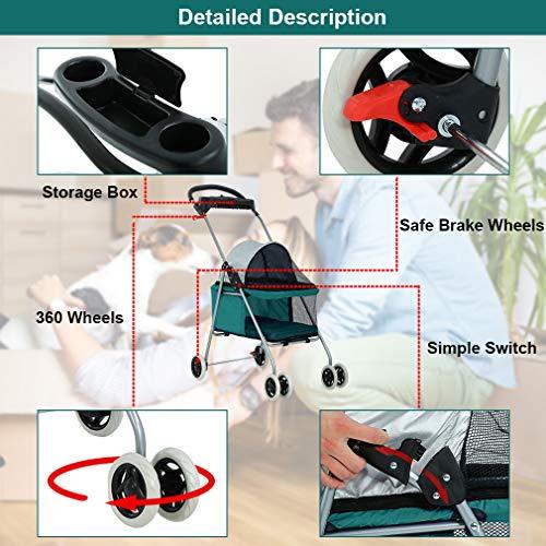 Teal Posh Pet Stroller