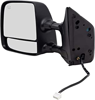 Drivers Side View Tow Mirror Power Heated Memory Telescopic Dual Arms Replacement fits 04-15 Nissan Titan Pickup Truck 96302-ZR20E