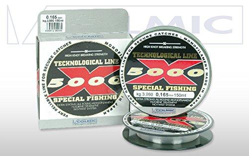 Filo da pesca Colmic da mt.600 per mulinllo X 5000 in Fluorine Diam.0,225 Kg.7,500