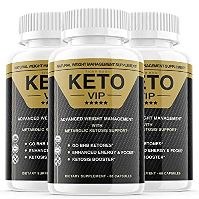 (3 Pack) Keto VIP Pills, Keto VIP Fuel Diet Pills Advanced Supplement, Exogenous Ketones for Rapid Ketosis - BHB Ketones for Men Women (180 Capsules)