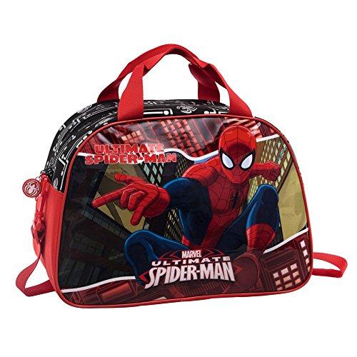 Marvel Spiderman Tote da Viaggio, Poliestere, Rosso, 40 cm