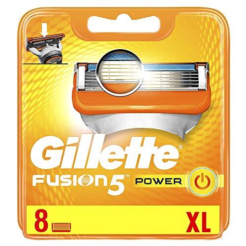 Gillette Fusion5 Power Scheermesjes, 8 Navulmesjes Met 5 Anti-Frictiemesjes