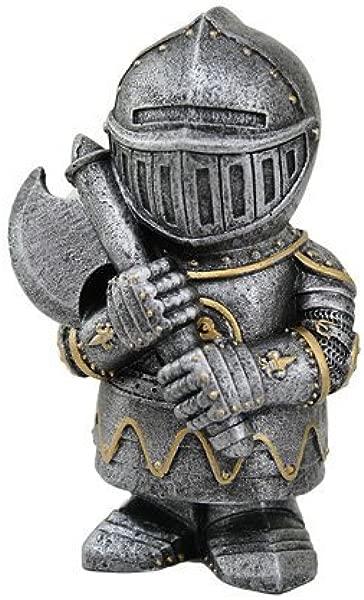 PTC 4 5 英寸小型装甲中世纪骑士带斧头雕像雕像