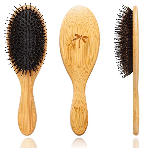 Boar Bristle Hair Brush - Hair Brushes for Women & Mens Hair Brush, Detangler Brush, Hairbrush, Detangling Brush for Long, Curly or Any Type of Hair.