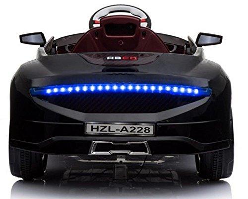 RC Auto kaufen Kinderauto Bild 2: Toyas Kinder Elektro Auto Sportwagen Cabrio Kinderfahrzeug mit Fernbedienung MP3 LED schwarz*