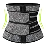 KIWI RATA Neoprene Sauna Waist Trainer Corset Sweat Belt for Women Weight Loss