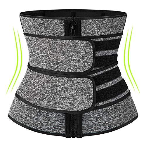 KIWI RATA Neoprene Sauna Waist Trainer Corset Sweat Belt for Women Weight Loss Compression Trimmer Workout Fitness