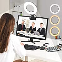 Relohas 6.3 Inch Video Conference Lighting with Clamp Mount