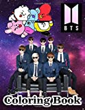 BTS Coloring Book: Amazing Coloring Book For ARMYs and BTS lovers, Big Coloring Pages for Relaxation and Stress Relief