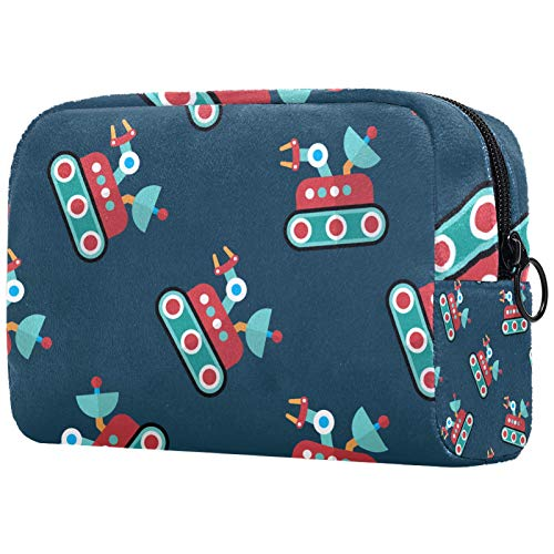 Cosmetic Bag Womens Waterproof Makeup Bag for Travel to Carry Cosmetics Change Keys etc Rover Flat Icon
