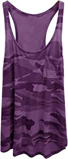 fe580f88b03e47 OOEOO Women's Fashion Camouflage Tank Tops Summer Casual Sleeveless Pocket Top  Vest