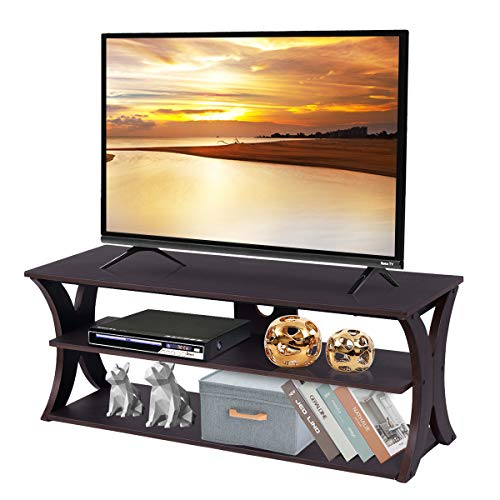 Tangkula TV Stand, 3-Tier TV Stand Storage Console with Storage Shelves for TV up to 50', Home...