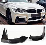 2 PCS Add-on Carbon Fiber Front Bumper Splitters Lip Fits for 2015-2019 BMW F80 M3/ F82 F83 M4