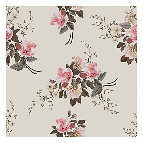 DON LETRA Vinilo Adhesivo para Muebles y Pared, 45 x 200 cm, Flores, Fundo Beige, VNL-019