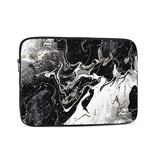 Black Marble Laptop Sleeve,Carrying Bag Chromebook Case Notebook Bag Tablet Cover,17 inch